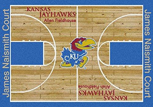 American Floor Mats Kansas Jayhawks NCAA College Home Court Team Area Rug 3'10
