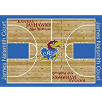 Kansas Jayhawks NCAA College Home Court Team Area Rugs