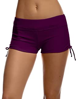 b14a3aab501 Amazon.com  HDE Womens Swim Brief with Ties Mini Boy Short Bikini ...