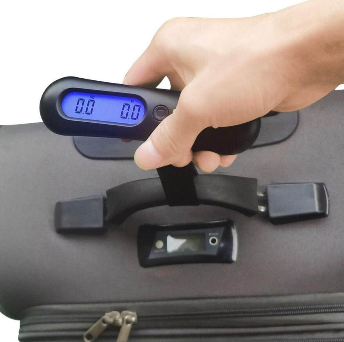 GHGJU Portable Scale Portable Electronic Scales Luggage Scale 50kg Smart Scale Dual Range Display Electronic Scales