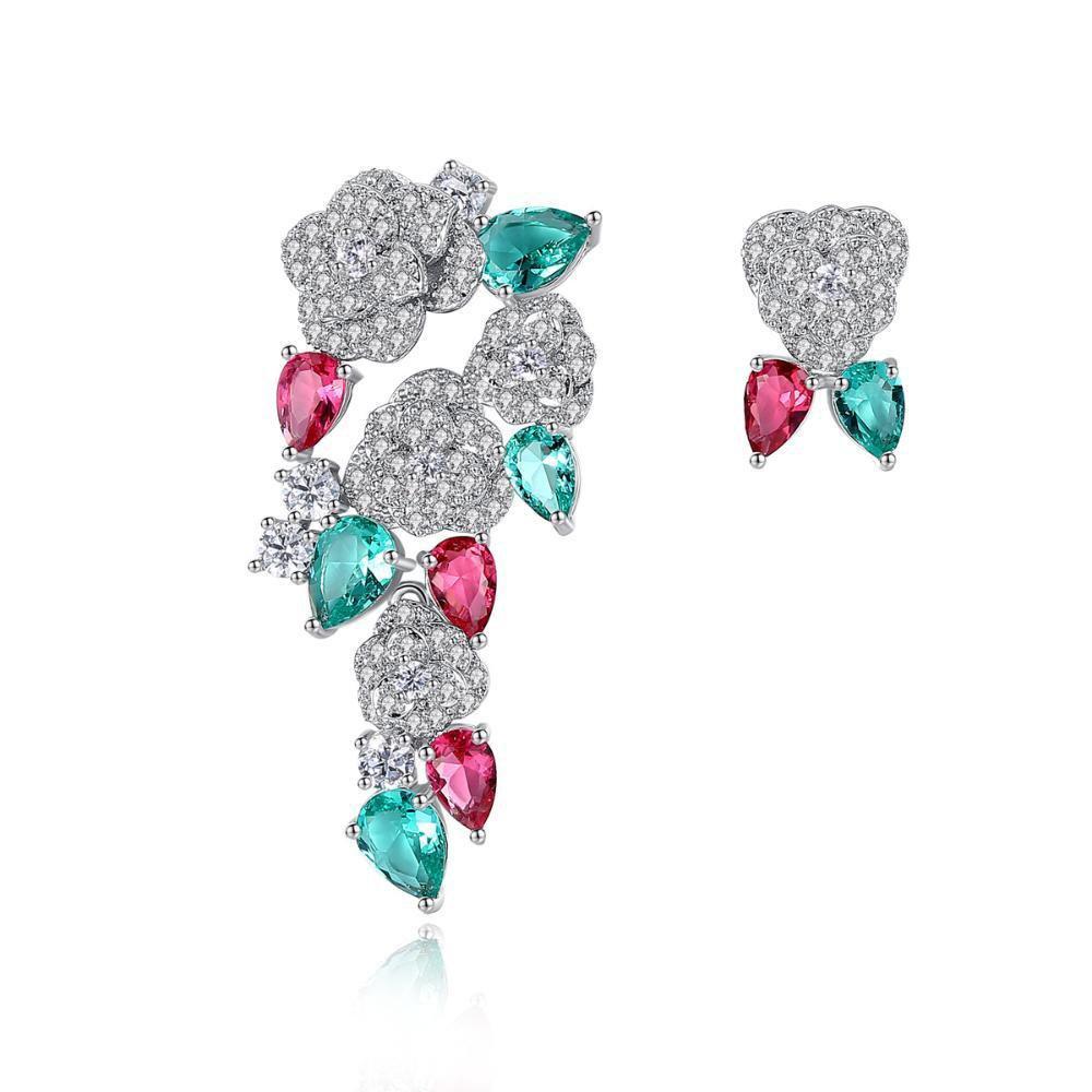 カラーイヤリングが付いているMaerye Ladyの宝石用原石のイヤリングイヤリング   B07DXHCFVM