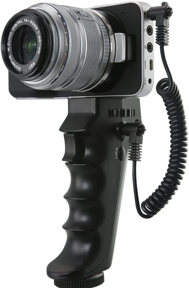 Pro Video Stabilizing Handle Grip for Leica M-Monochrom Vertical Shoe Mount Stabilizer Handle