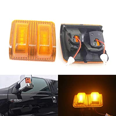 Xinctai 2PCS Error Free LED Side Mirror Puddle Mirror Light Turn Signal Lamp for 2008 to 2016 Ford F250 F350 F450 F550 Yellow Original Lens: Automotive