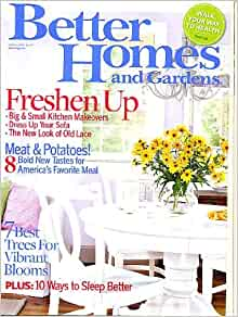 Better homes and gardens march 2007 big small kitchen makeovers dress up your sofa 8 meat Better homes and gardens march