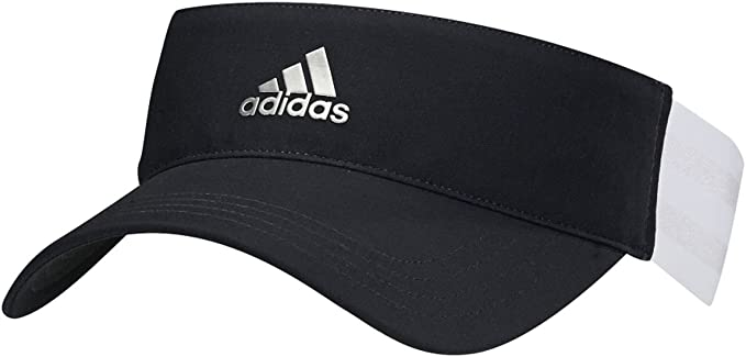 adidas Womens 3-Stripe Visor Black/White One Size Fits Most ...