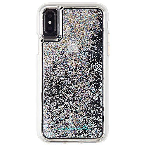 Case-Mate iPhone X Case - WATERFALL - Cascading Liquid Glitter - Protective Design - Apple iPhone 10 - Iridescent