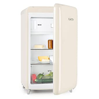 Klarstein Popart Cream • Nevera • refrigerador • diseño Retro • 108 l • congelador de