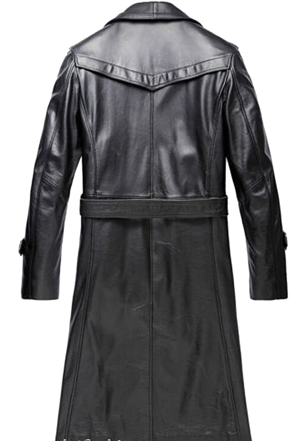 2a4e80b41 HugMe.fashion Leather Long Coat for Men and Women in Black Color ...
