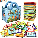Baby : TEYTOY Baby Toy Zoo Series 26pcs Soft Alphabet Cards with Cloth Bag for Over 0 Years
