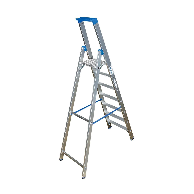 6,2 kg Leiternl/änge 1,6 m Alu Arbeitsh/öhe 2,95 m,Standh/öhe 0,95 m Stufen-StehLeiter