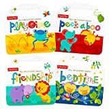 Fisher Price 'My First Books' Set of 4 Baby Toddler Board Books (Bedtime, Playtime, Friendship and Peek-a-Boo!)