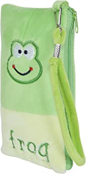 Chords Cute Frog Mobile Pouch in Soft Toys Pencil Pouch for Kids with Handle