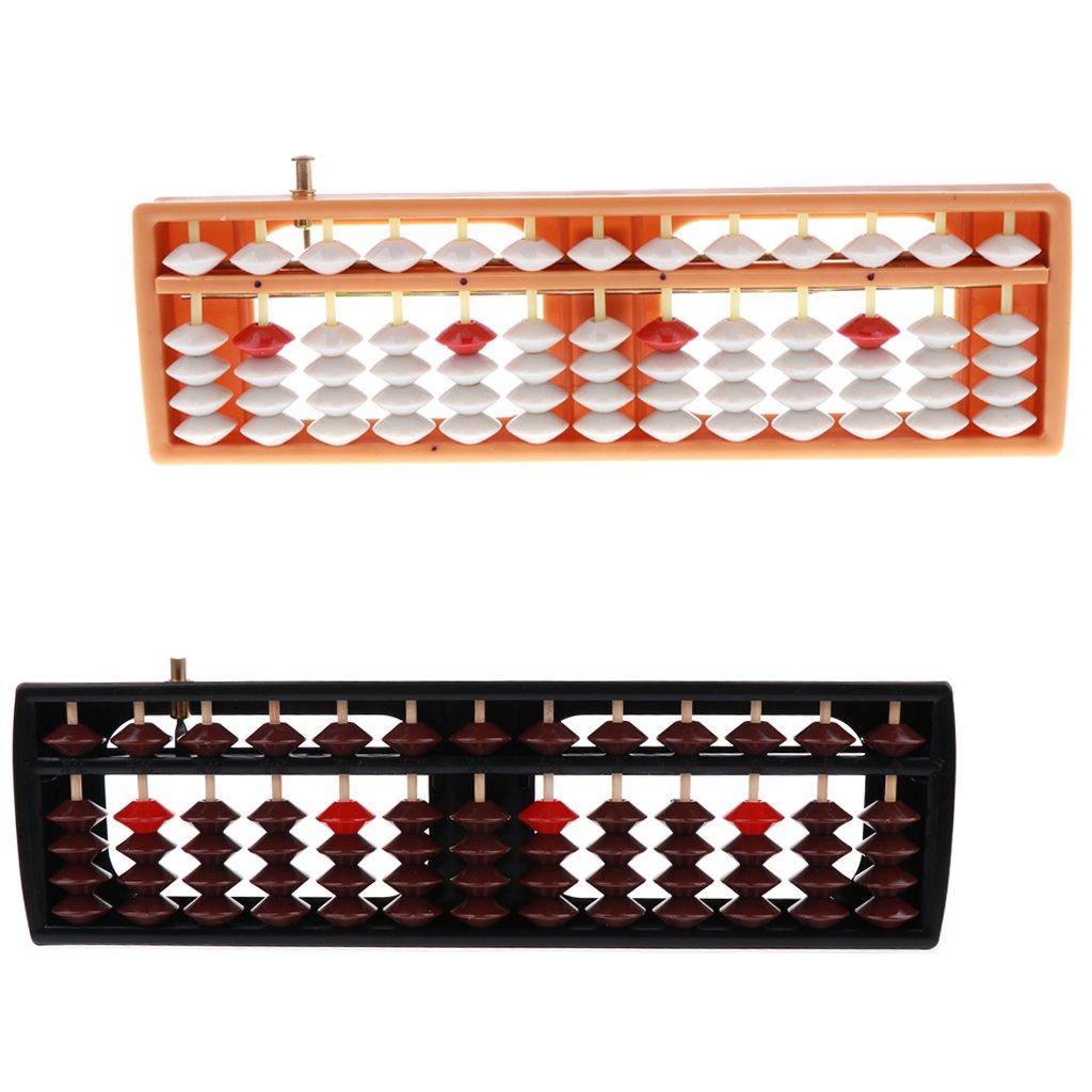 Orange CUTICATE 13 Ziffern Tragbare Perlen Soroban Nummer Z/ählhilfe Mathematik Spielzeug