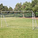 12' x 6' Soccer Goal With Net, Velcro Straps, Anchor Large Soccer Goal Sports