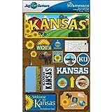 Reminisce Jet Setters Dimensional Stickers-Kansas