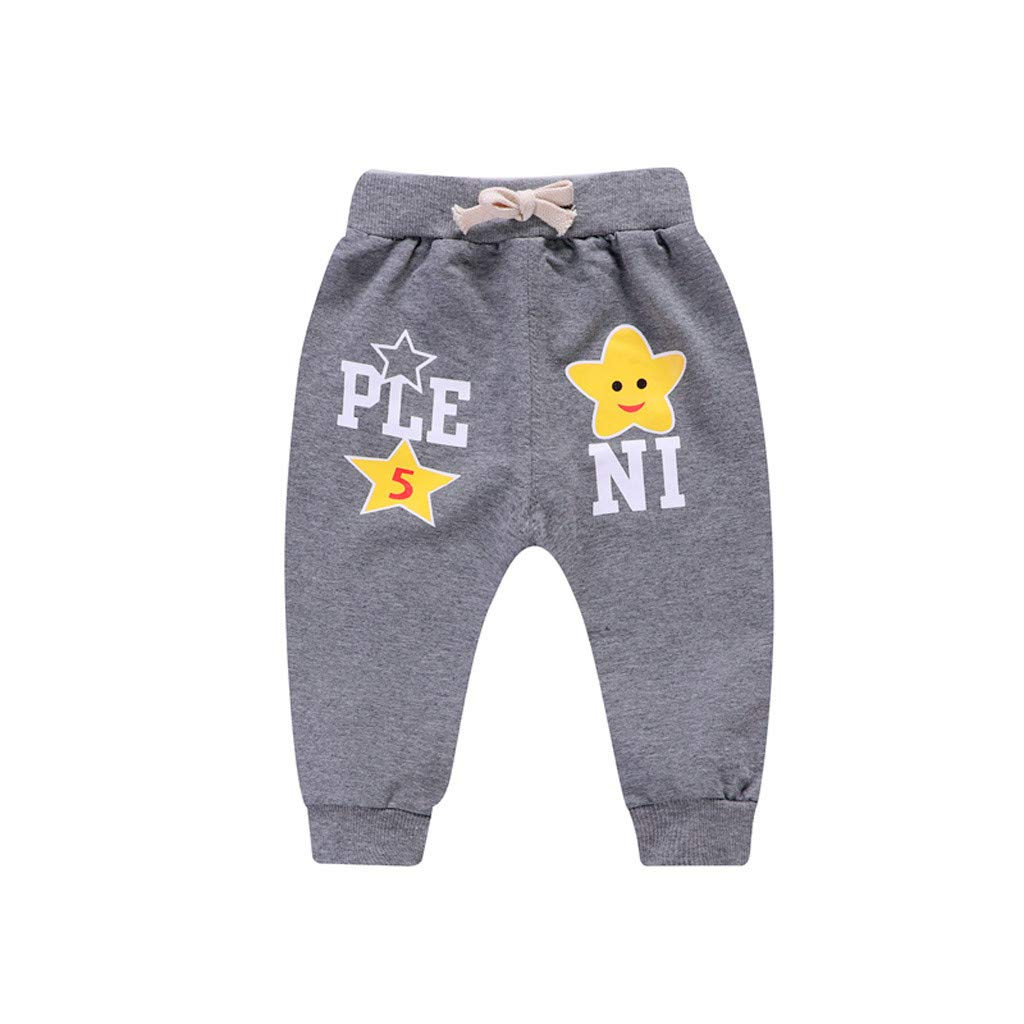 SIN vimklo Boy Five-Pointed Cartoon Letter Printed Casual Pants Sports Trousers