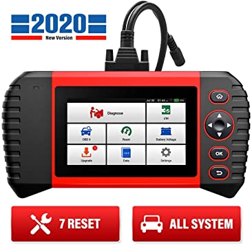 LAUNCH OBD2 Scanner CRP Touch Pro Full System Automotive Diagnostic Scan Tool Check SAS//EPB//BMS//DPF//Oil Reset Code Reader Based on Android 5.0-Inch Touch Screen Wi-Fi