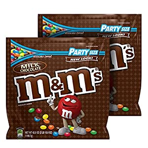 M&M'S Milk Chocolate Candy Party Size 42-Ounce Bag (Pack of 2)