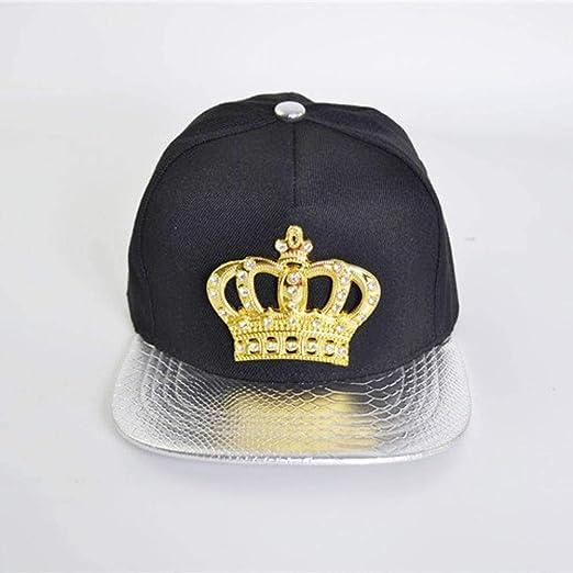 Corona Gorra de Hip-Hop Moda Calle Danza Diamante Borde Plano ...