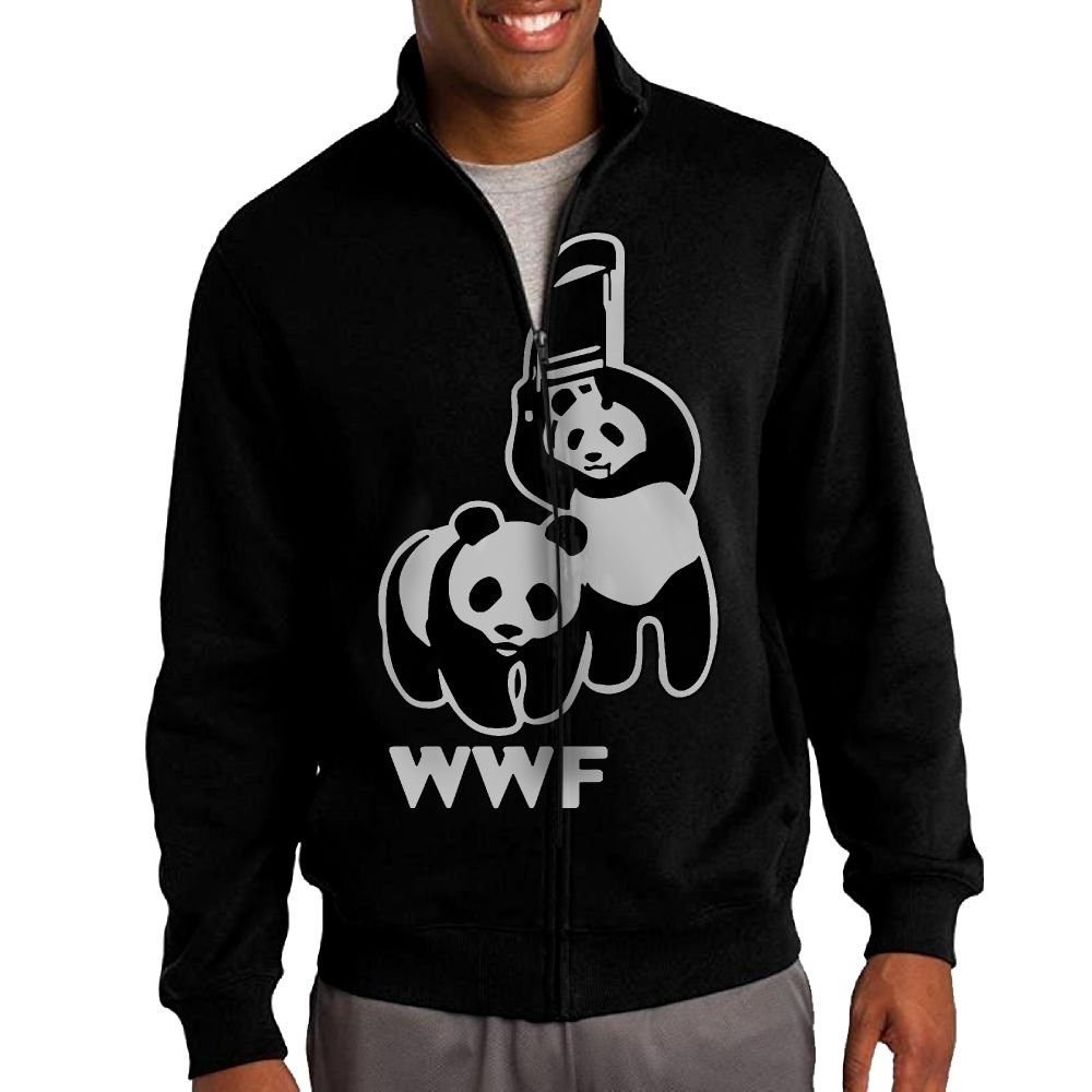 WWF Funny Panda Bear Wrestling Men's Sweatshirt,Long Sleeve Outer Jacket For Man by GsShan08