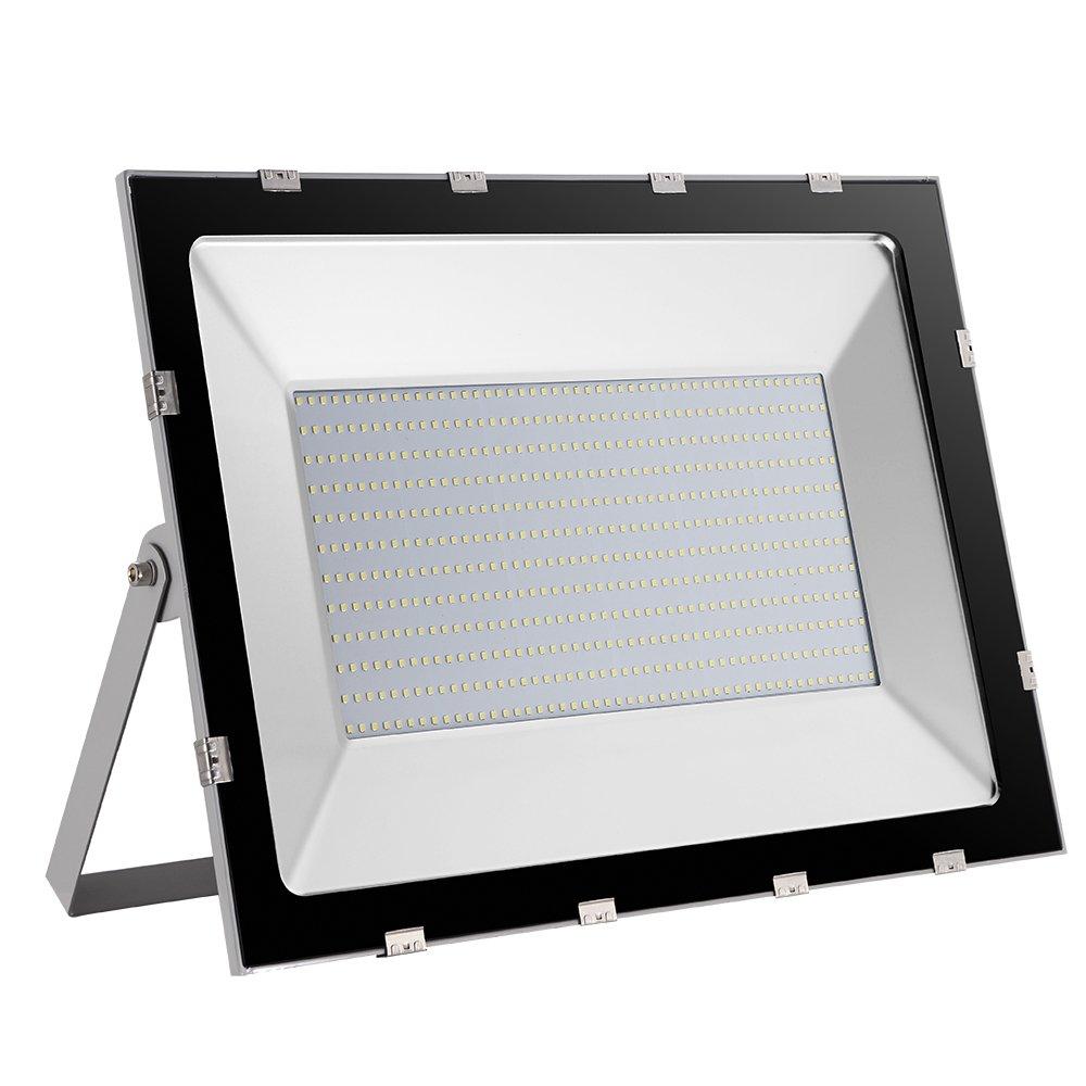 100W 10000LM LED Fluter, im Freienscheinwerfer, Lndustrielle Lampe Wandleuchte für Garten, Terrasse, Quadrat, Fabrik, IP65 AC220-240V (kaltes Weiß, 500W)