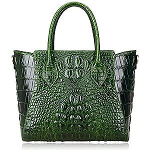 PIJUSHI Embossed Crocodile Handbags for Ladies Designer Purses Top Handle Shoulder Bag