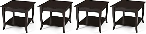 Linon Home Decor Products Farley, Espresso End Table Pack of 4
