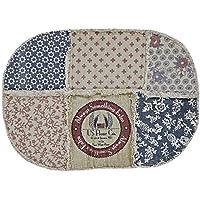 VHC Brands Farmhouse Flooring - Millie White Patchwork Rug, 18 x 26