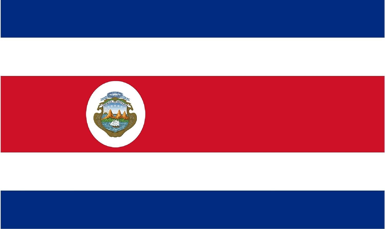 Gran Bandera de Costa Rica 150 x 90 cm Satén Durobol Flag: Amazon.es: Deportes y aire libre