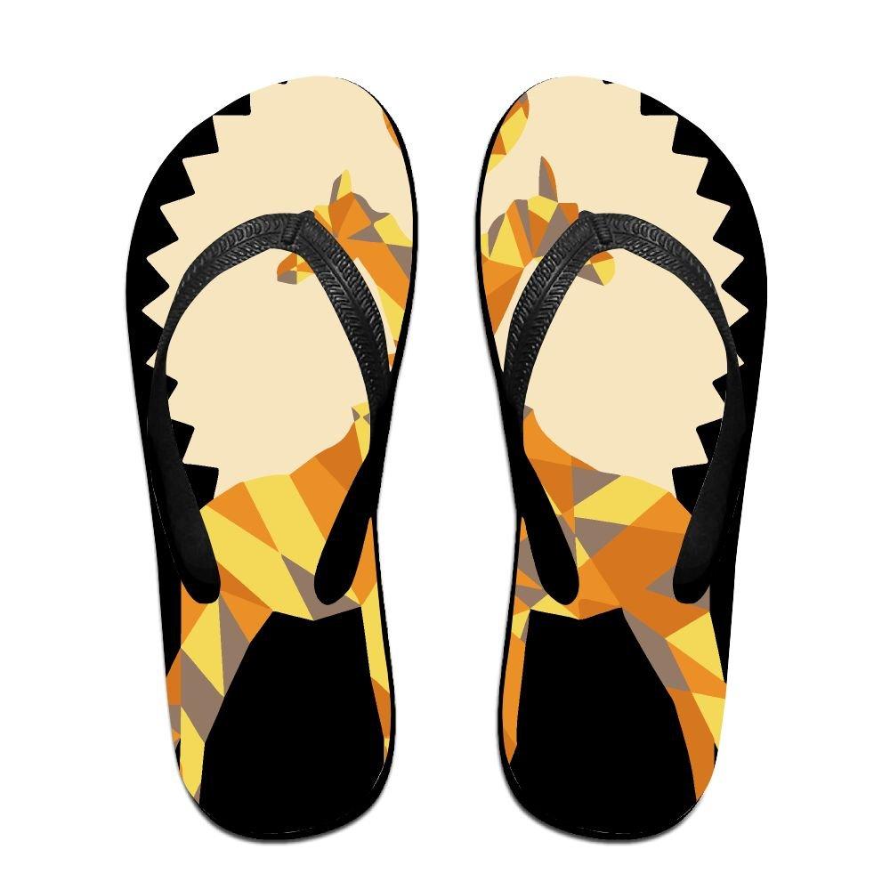 Unisex Giraffe Love By Forevermelody Summer Beach Herringbone Shoes Sandals Slipper Indoor & Outdoor Flip-flops