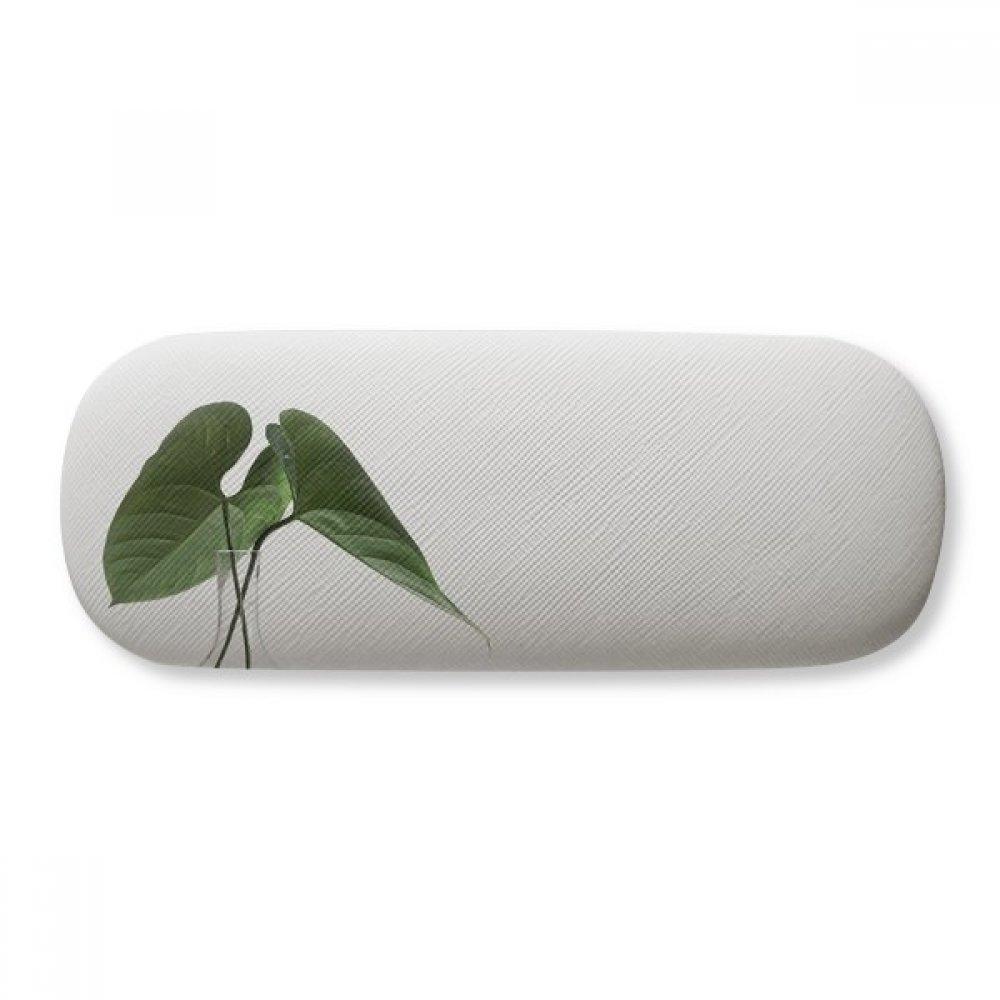Simpol Green Leaf Plant Nature Photo Glasses Case Eyeglasses Clam Shell Holder Storage Box