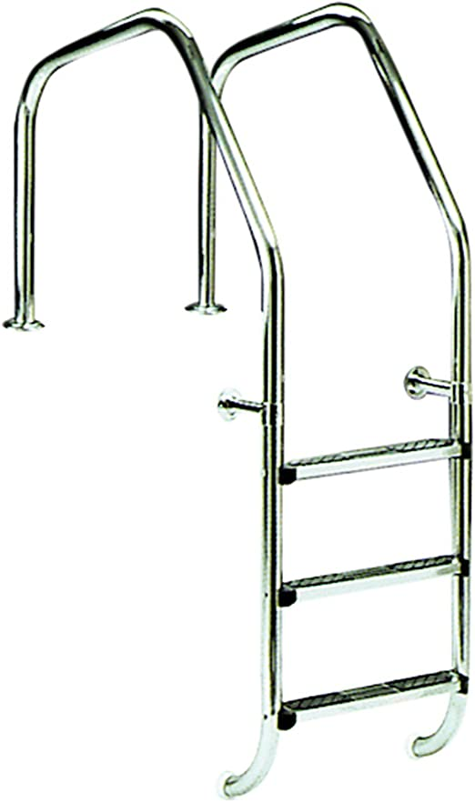 Escalera para piscina modelo 1000 para rebosadero 2 peldaños Luxe ...