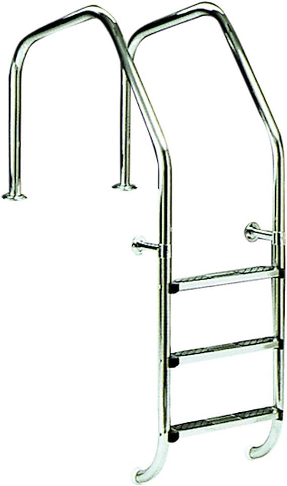 Escalera para piscina modelo 1000 para rebosadero 3 peldaños Luxe más peldaño de seguridad AstralPool: Amazon.es: Jardín