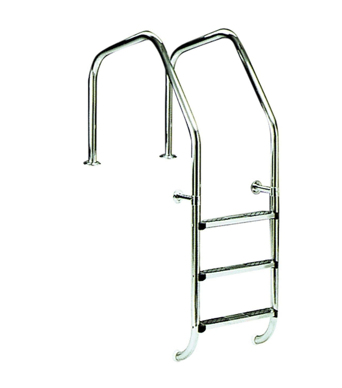 Escalera para piscina modelo 1000 para rebosadero 3 peldaños Luxe más peldaño de seguridad AstralPool