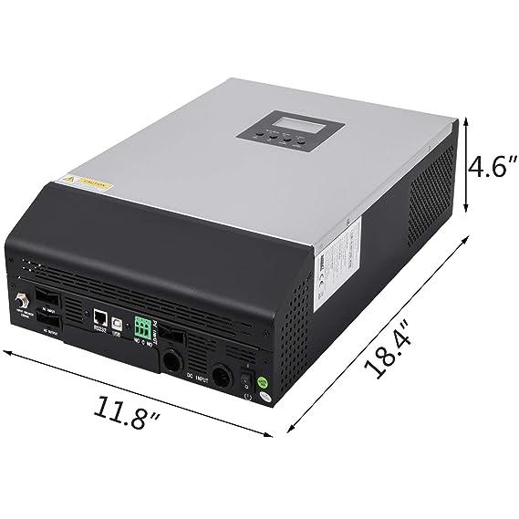 Amazon.com: Mophorn Inverter - Cargador solar de onda ...