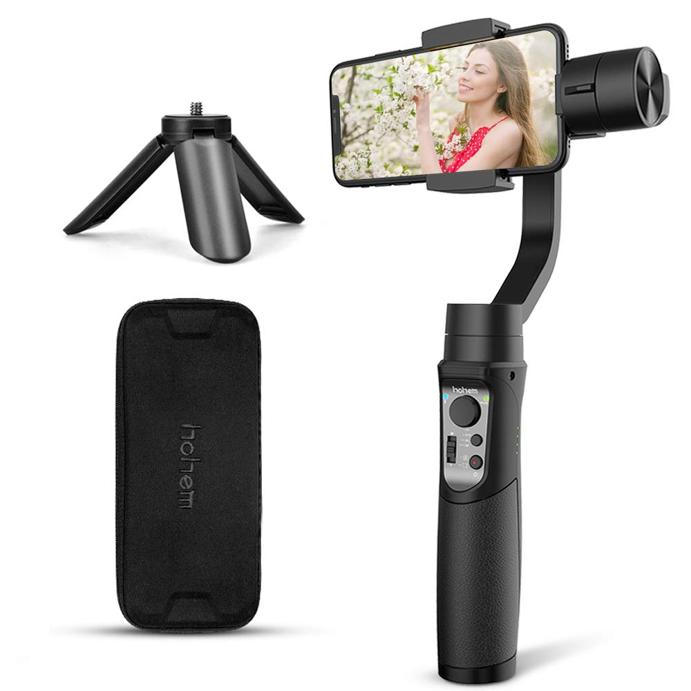 3-Axis Gimbal Stabilizer for iPhone Smartphone Handheld with Face Object Tracking Motion Time-Lapse APP Control for iPhone Xs Max X 8 Plus 7 6 Samsung ...
