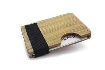 Hochwertiges Kreditkartenetui Und Visitenkartenetui Aus Holz Sicher Gegen Herausfallen Mit Verschluss Auch Für Visitenkarten Geeignet Original