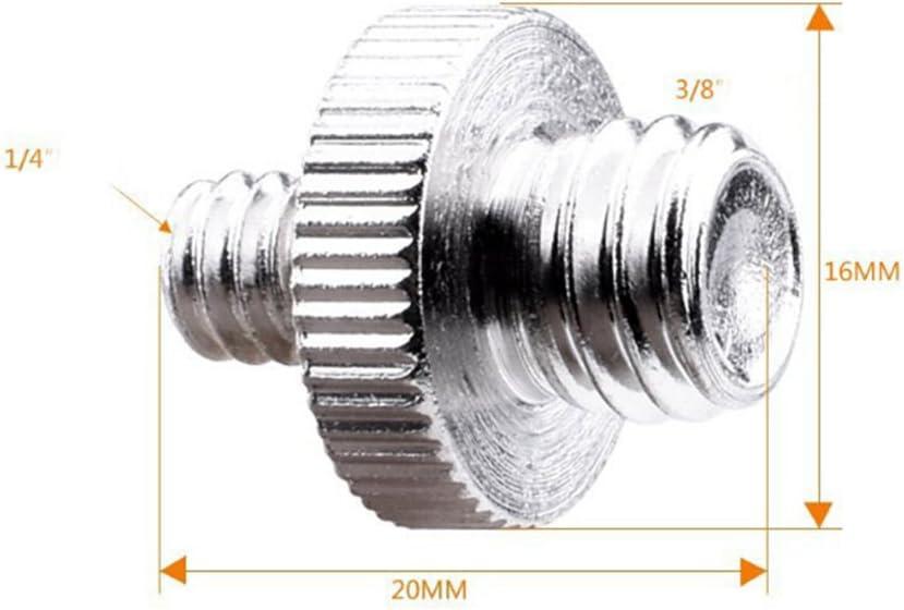 6Pcs Standard 1//4-20 Male to 3//8-16 Male Threaded Screw Adapter Tripod Screw Converter