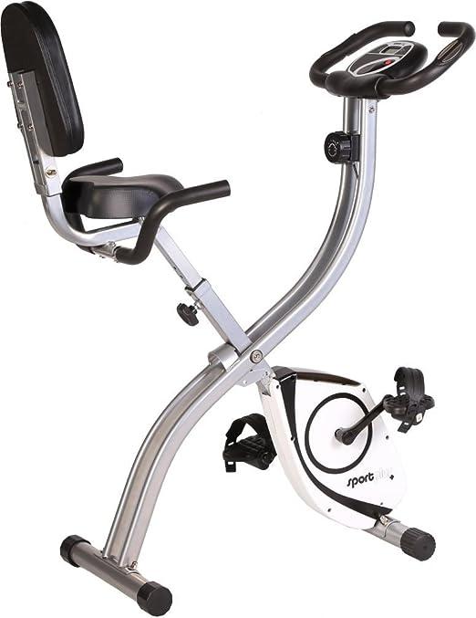 149 opinioni per SportPlus Cyclette Pieghevole   Bicicletta da Stanza con Schienale   Rilevatore