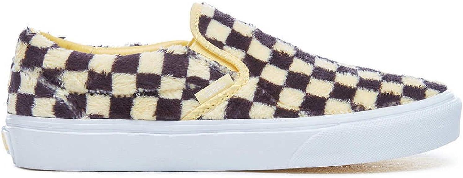 vans checkerboard slip on jaune