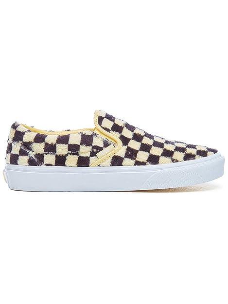 Vans Sneakers Classic Slip On (Furry Check) Sunshine Black