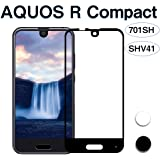 AQUOS R Compact フィルム,国産旭硝子採用 3D曲面 AQUOS R Compact 701SH フィルム AQUOS R Compact SHV41 フィルム 高透過率 硬度9H 気泡防止 2色選択by Hitcrunch (ブラック)