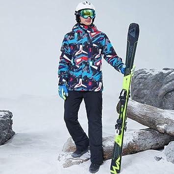 BSSDG Traje de Nieve Traje de esquí Hombres Espesar el ...