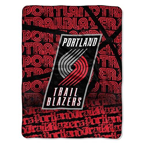 NBA Portland Trailblazers Redux Micro Raschel Throw, Red, 46 x 60