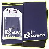 wwww Balhvit Cooling Towel Evaporative Chilly Towel For Yoga Golf Travel- Dark Violet/Green-Yellow-Medium (40x12-Inch)