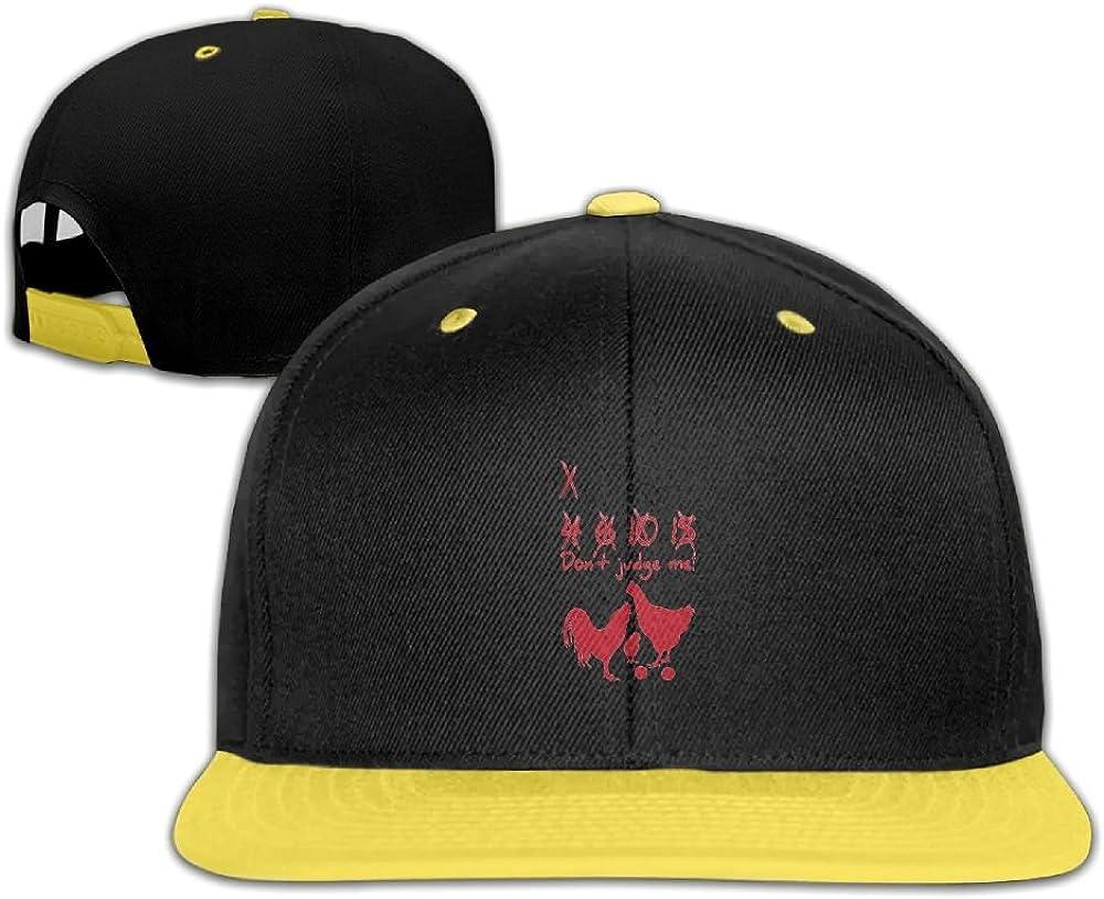 GUOFULIN Chicken Dont Jude Me Adjustable Snapback Kids Hip Hop Hat Baseball Cap