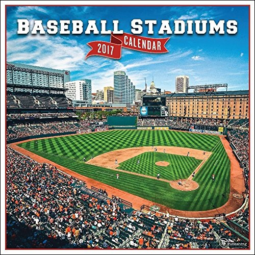 TF Publishing Baseball Stadiums 2017 Wall Calendar