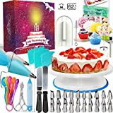 Cake Decorating Turntable, All-in-one Baking Set Including Icing Tips & Bags