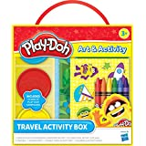 Play-Doh Travel Activity Box: 3 Cans of Play-Doh, 6 Crayons, 1 Sticker Sheet, 1 Double Sided Activity Mat, 1 Coloring Book