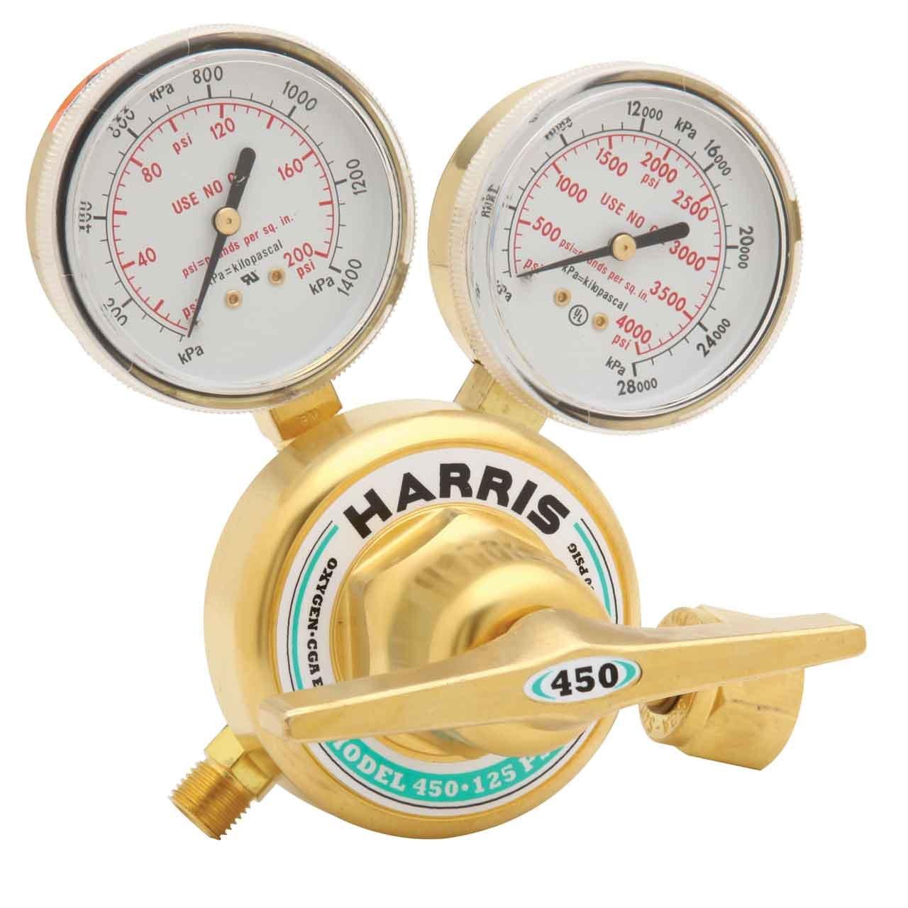Gas Welding Equipment Harris 450 Xtra Heavy Duty Oxygen Regulator ...